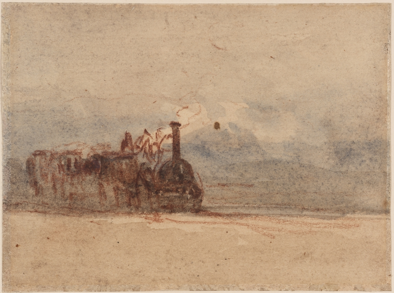 David Cox, A Railway Engine image