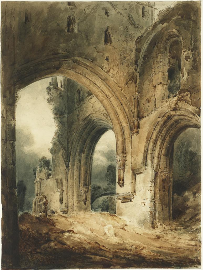 "John Sell Cotman, ""Llanthony Abbey"" image"