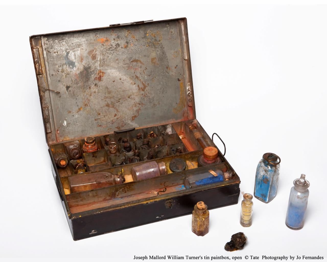 约瑟夫.马洛.威廉.泰纳《金属画具箱》的图片
