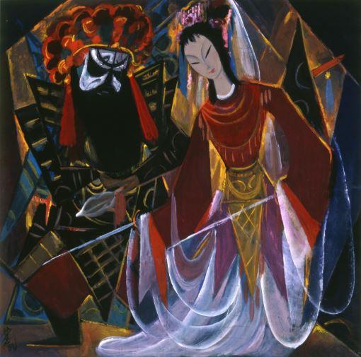 Lin Fengmian,Opera scene image