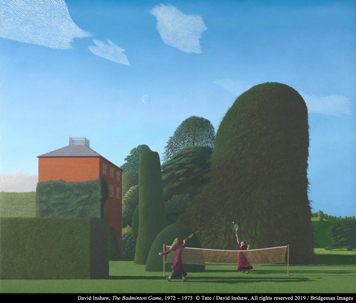 "David Inshaw, ""The Badminton Game"" image"