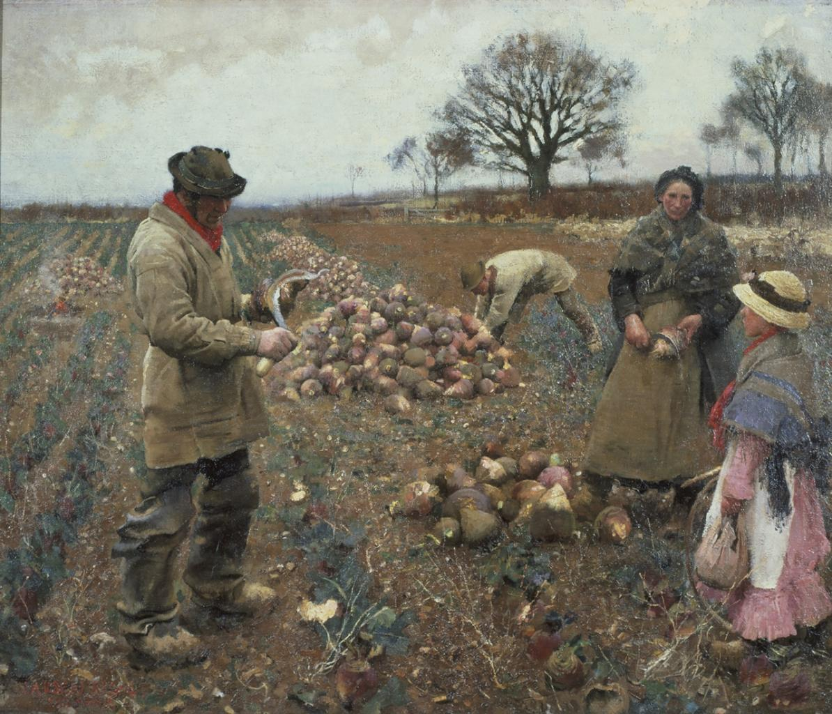 "George Clausen, ""Winter Work"" image"
