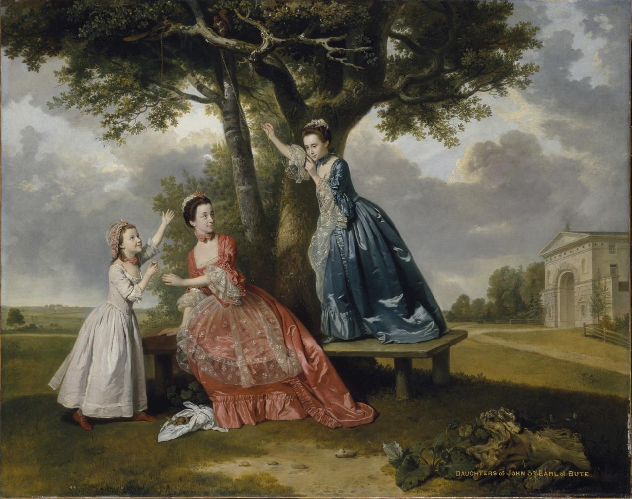 "Johann Zoffany, ""Three Daughters of John, 3rd Earl of Bute"" image"