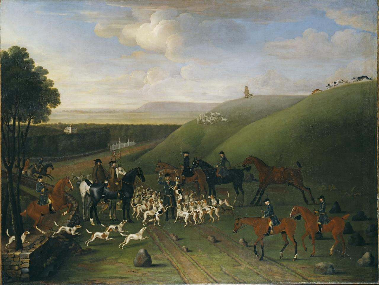 詹姆斯.西摩《在阿什道恩公园狩猎》的图片