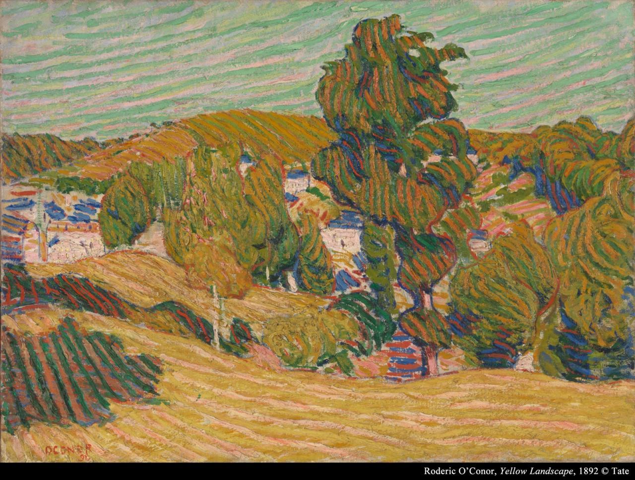 罗德里克‧奥科诺《黄色风景》的图片