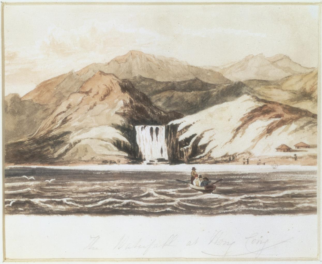 "William Havell, ""Waterfall at Aberdeen, Hong Kong"" image"