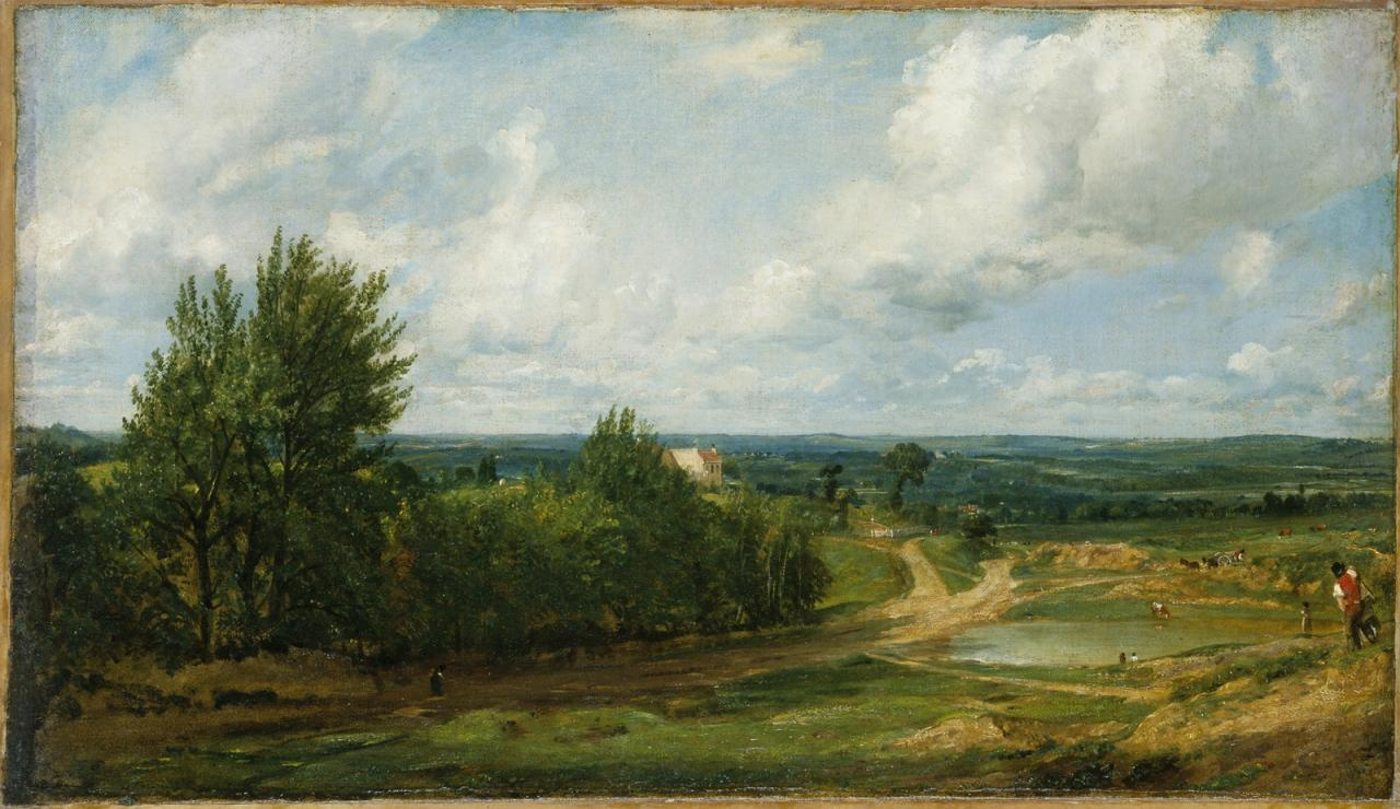 "John Constable, ""Hampstead Heath, with the House Called 'The Salt Box'"" image"
