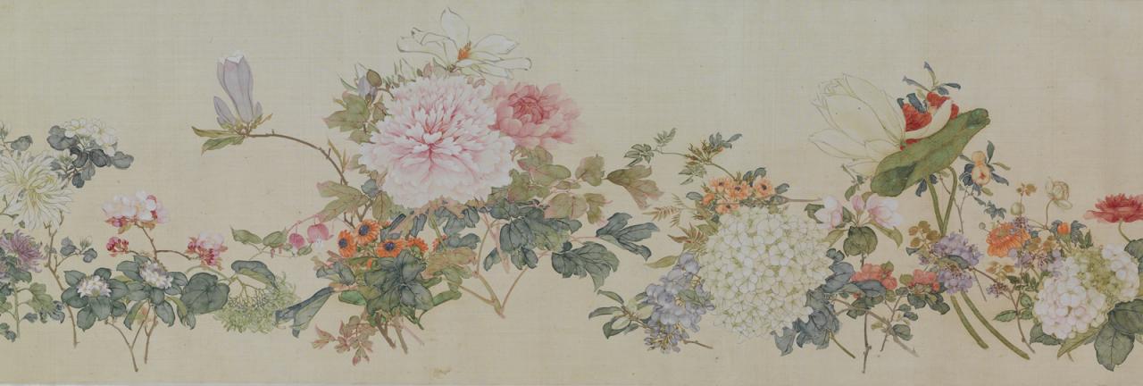"""Ju Lian, """"A hundred flowers"""" image"""