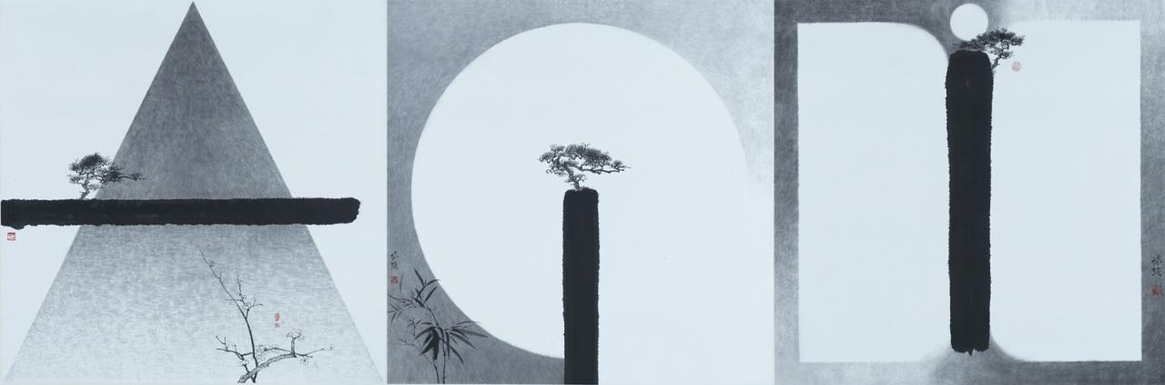 KAN Tai keung 'Befriend via Arts Pine and Plum, Pine and Bamboo, Pi ne and Moon' image