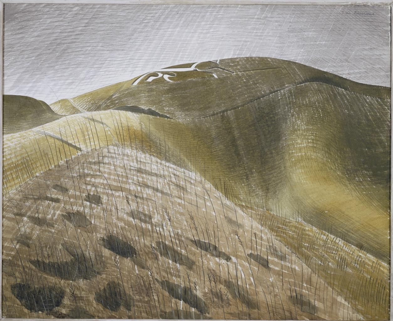 "Eric Ravilious, ""The Vale of the White Horse"" image"