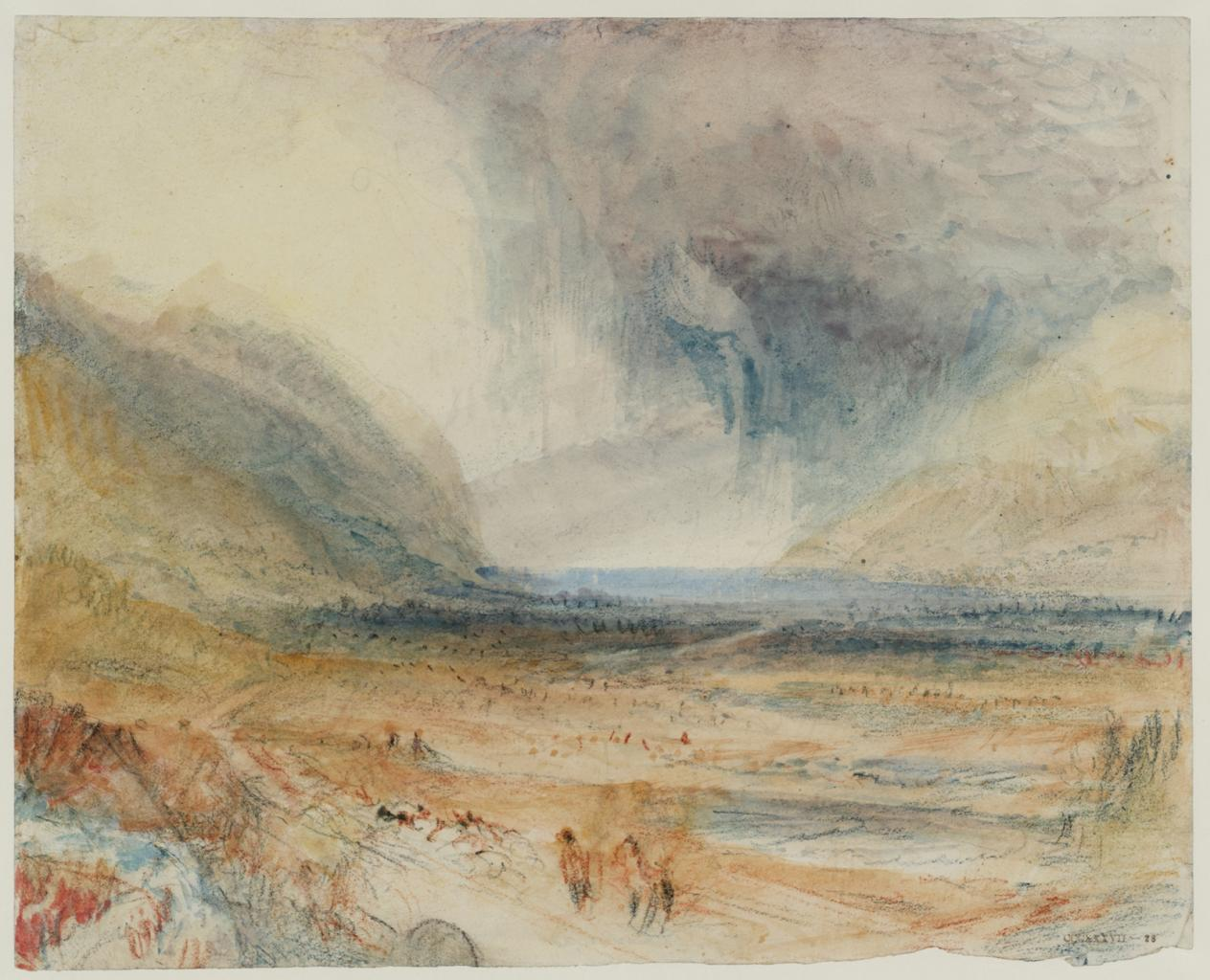 "Joseph Mallord William Turner, ""A Storm over Lago Maggiore, from near Magadino"" image"