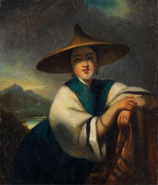 George Chinnery,A Chinese sampan girl image