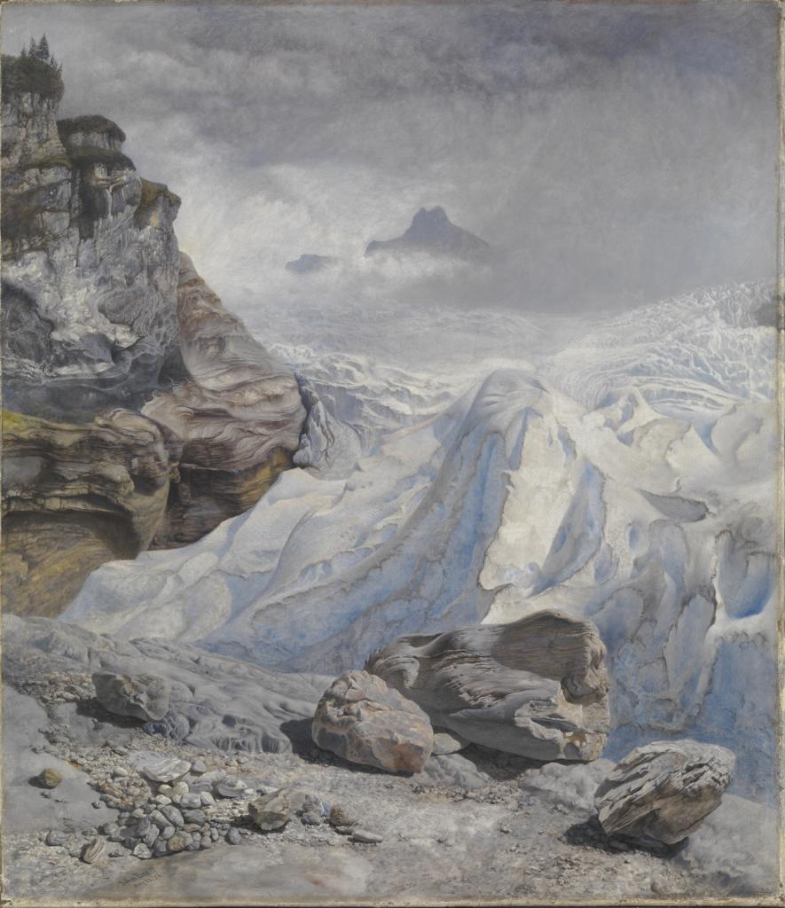 约翰.布雷特《罗森劳伊冰川》的图片
