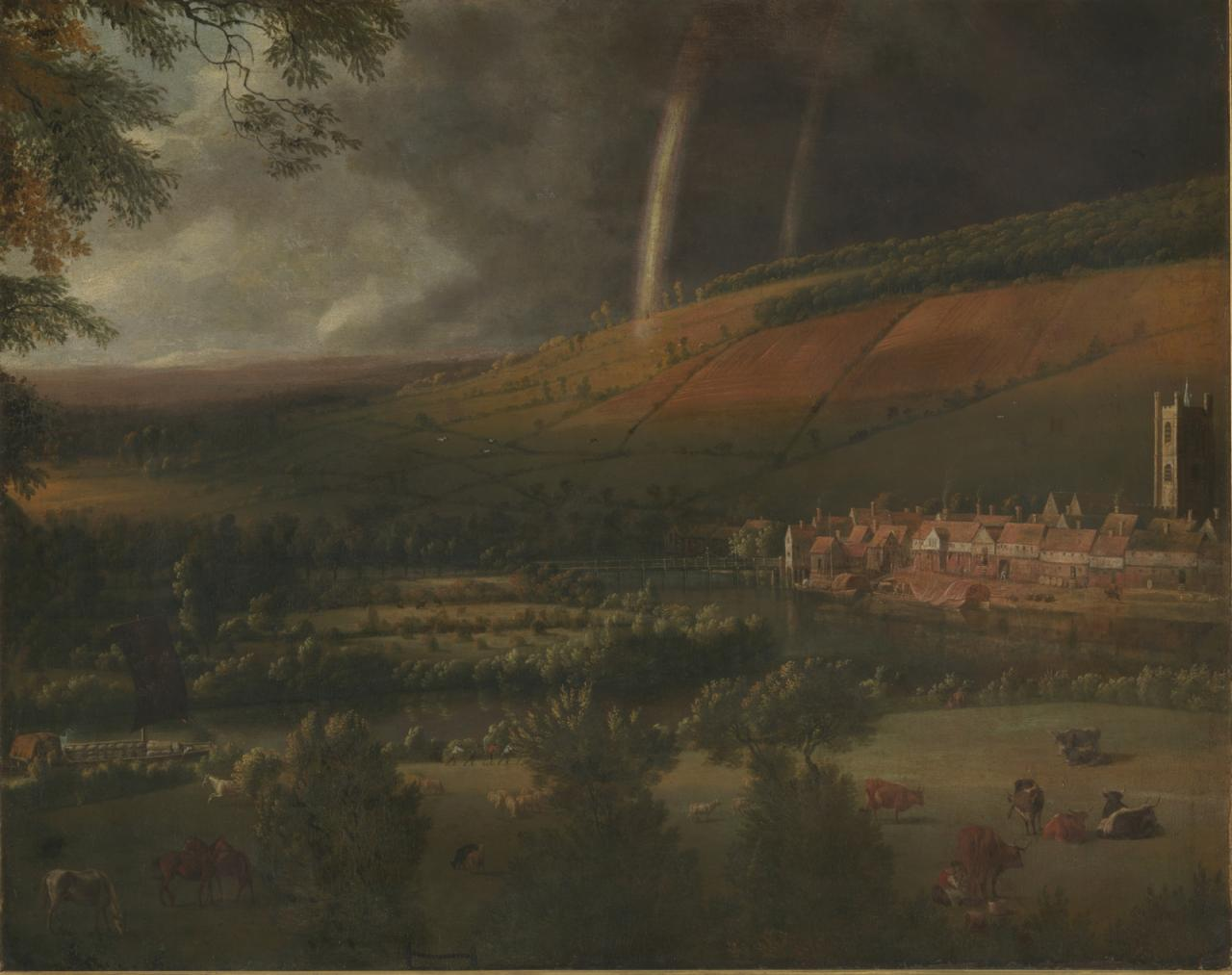 扬.希柏瑞《泰晤士河畔亨利小镇的彩虹》的图片